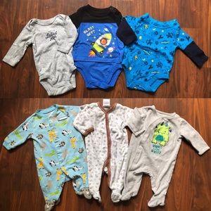 Other - Boys Footie Sleeper Pajamas & Long Sleeve Onesies
